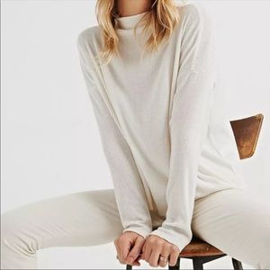{Lucky Brand} NWT Jersey Ribbed Mock Turtleneck